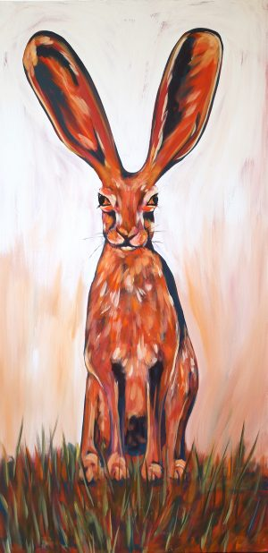 Jack Rabbit painting by Julie Wright