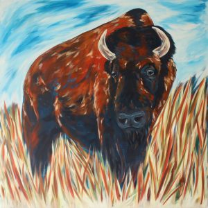 American Bison Painting