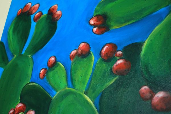 Prickly Pear Cactus Painting