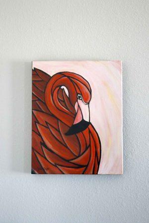 Cubist Caribbean Flamingo