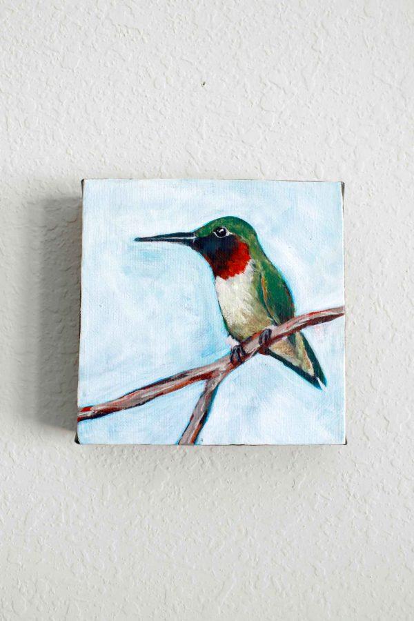 Ruby Throated Hummingbird painting